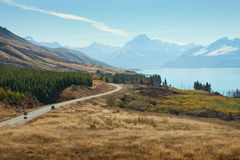 Scenic Road to Mount Cook Royalty Free Stock Image
