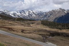Scenic road to pass Giovo in mountains Alps South Tyrol Italy Stock Photos