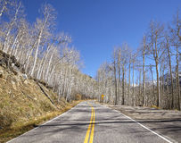 Scenic road, travel concept picture, Colorado, USA Royalty Free Stock Images