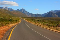Scenic road, Western Cape, South Africa Stock Photos