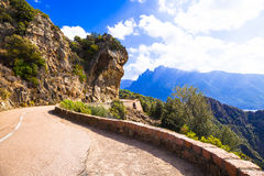 Scenic roads of Corsica Stock Photo