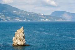 Scenic rock in the Black Sea, Crimea Stock Images