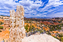 Scenic Rock Formations of Bryce Canyon Amphitheatre, Utah Stock Photo
