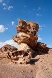 Scenic rock in shape of mushroom in the desert Stock Image