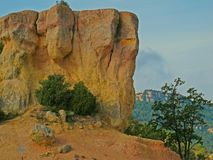 Scenic rock in the Spanish Pyrenees royalty free stock photos