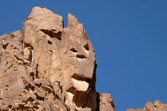 Scenic rocks in Eilat Mountains. Stock Images