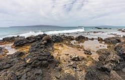 Rocky Maui Coastline. The scenic rocky Maui Hawaii coast landscape Royalty Free Stock Photo