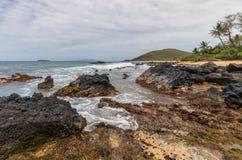 Scenic Maui Coastline. The scenic rocky Maui Hawaii coast landscape Royalty Free Stock Photo