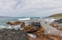 Scenic Rocky Maui Coastline. The scenic rocky Maui Hawaii coast landscape Royalty Free Stock Image