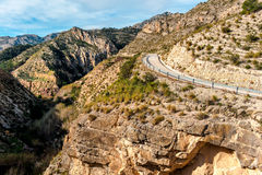 Scenic rocky mountains. Spain Royalty Free Stock Photos
