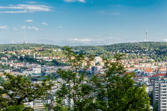 Scenic rooftop view of Stuttgart, Germany Royalty Free Stock Photo
