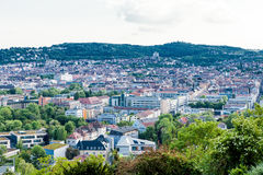 Scenic rooftop view of Stuttgart, Germany Stock Photo