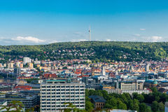 Scenic rooftop view of Stuttgart, Germany Stock Images
