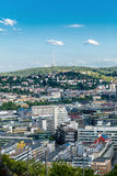 Scenic rooftop view of Stuttgart, Germany Royalty Free Stock Photos