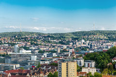 Scenic rooftop view of Stuttgart, Germany Royalty Free Stock Photography