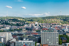 Scenic rooftop view of Stuttgart, Germany Royalty Free Stock Images