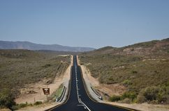 The endless Route 66 from Cape Town to Oudtshoorn stock photo