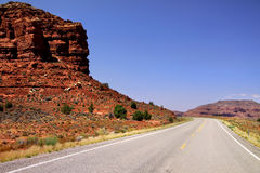 Scenic route through Glen canyon Stock Photo