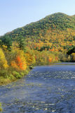 Scenic Route on Kancamagus Highway on the Swift River and the White Mountains, NH Stock Images