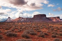 Scenic route near Arches Park, Utah Stock Photos