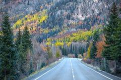Scenic route near Ourey Colorado Stock Photo