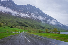 Scenic route  63 in Norway. Royalty Free Stock Photography