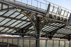 Scenic route over the roofs of the Vittorio Emanuele II Gallery. Highline Gallery, Nouveau style shelter, Milan, Lombardy, Italy Stock Images