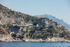 Scenic route from Sorrento to Salerno along the Amalfi Coast. Campania,. Italy stock image