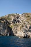 Scenic route from Sorrento to Salerno along the Amalfi Coast. Campania,. Italy stock photo
