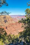 Scenic Grand Canyon South Rim Royalty Free Stock Images