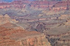 Scenic Grand Canyon South Rim Landscape. The scenic rugged landscape of the grand canyon national Park from the south rim Stock Images