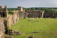 Scenic ruins of the historical Richmond Castle - founded in 11th century and it is one of the greatest Norman fortresses in