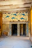 Ruins of the Minoan Palace of Knossos on Crete. Scenic ruins of the Minoan Palace of Knossos on Crete, Greece Royalty Free Stock Photo
