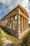 Scenic old temple at Segesta in Italy Stock Photos