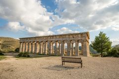 Scenic old temple at Segesta in Italy Stock Image