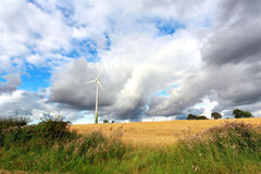Scenic rural landscape with a windmill Royalty Free Stock Images