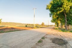 Free Scenic Rural Road Along Farmland In Kent, Washington, America At Sunset Stock Photography - 173229432