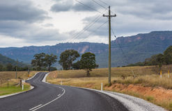 Scenic Rural road, NSW, Australia Royalty Free Stock Photography