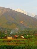 Scenic s pring seasonSnow peaked HImalayas Kangra  Royalty Free Stock Image