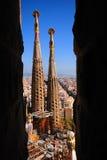 Scenic Sagrada Familia stock photography