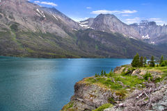 Scenic Saint Mary lake Stock Photography