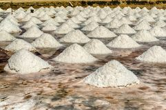 The salt flats of Trapani, Sicily, Italy. The scenic salt flats of Motya near Trapani, Sicily, Italy royalty free stock image
