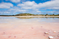 Scenic Salt Lake Rottnest Island Australia Stock Photo