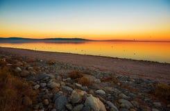 Scenic Salton Sea Sunset Stock Photography