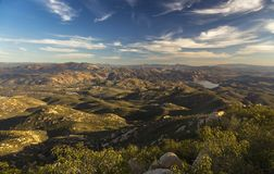 Scenic San Diego County Landscape View from Summit of Iron Mountain in Poway. Scenic Landscape View South of San Diego County and Distant Baja California stock image