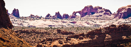 Scenic Sandstone Formations of Arches National Park, Utah, USA Royalty Free Stock Image