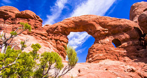 Scenic Sandstone Formations of Arches National Park, Utah, USA Royalty Free Stock Photography