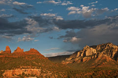 scenic sandstone mountain range landscape Royalty Free Stock Images
