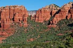 Scenic sandstone mountain range landscape Stock Image