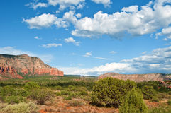 Scenic sandstone mountain range landscape Stock Photos